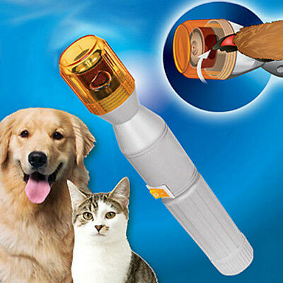 Pet Dog Cat Nail Trimmer Grooming File Tool Care Grinder Cut Electric Clipper