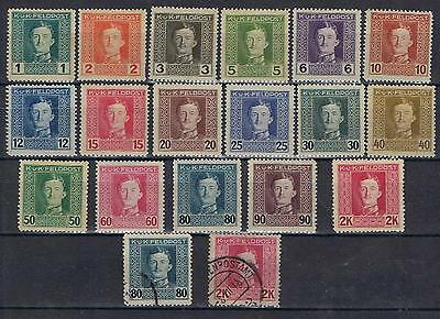 Austria 1917 1918 Military Feldpost to 2K  Mint MH and 2 used
