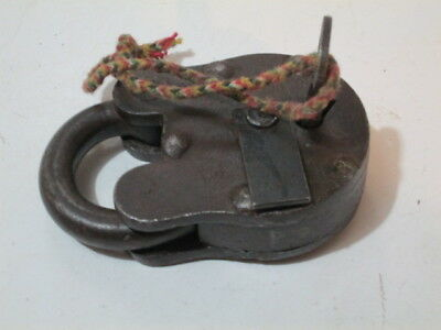 Large Antique Padlock with one key only
