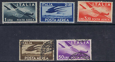 Italy 1945 Air selection to 50 lire SG 670-72, 676, 678  MNH and Used