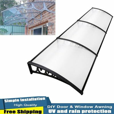 New Diy Window Door Awning Cover Transparent 100 X 300Cm Outdoor Canopy Balcony