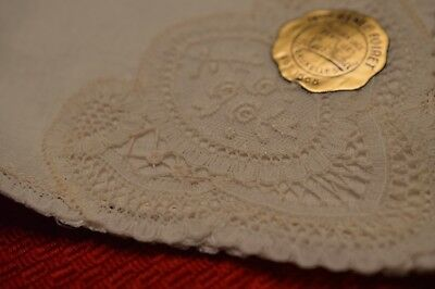 VINTAGE 1940-50's Belgian Lace Handkerchief Great for Bride or Mother