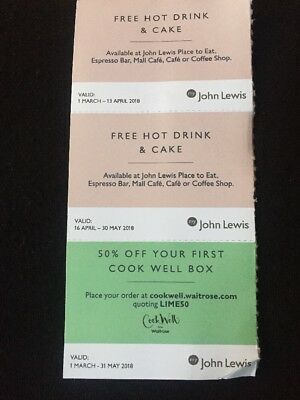 John Lewis Cake And Hot Drink Voucher