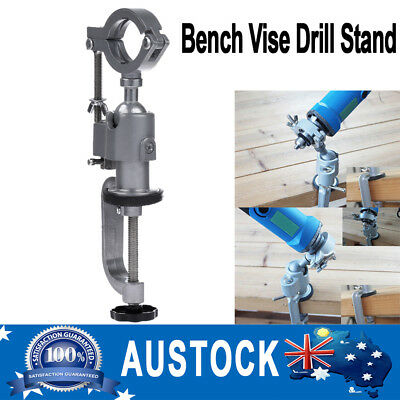 360 degree Rotating Clamp-on Grinder Holder Bench Vise for Electric Drill Stand