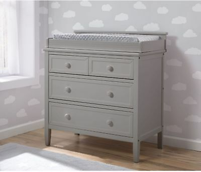 3-Drawer Dresser Storage Home Furniture Wood Contemporary Bedroom Indoor Grey