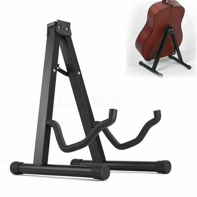 Folding Guitar Stand Non-slip Rack Electric Acoustic Bass Gig Floor Holder AU