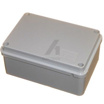 Junction box enclosure 120 x 80 x 50mm case joint adaptable PVC IP56 waterproof