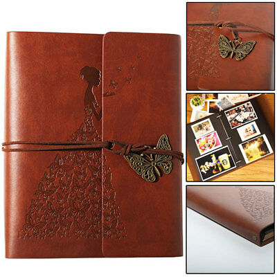 Vintage Self Adhesive Leather Photo Album large vintage Birthday/Aniversary New