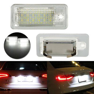2x LED License Number Plate Light Canbus For Audi A3 A4 A6 A8 Q7 B6 B7 S4 RS4 C6