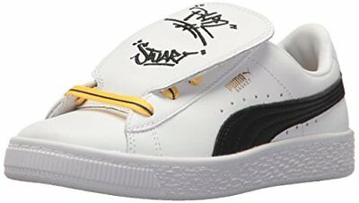 PUMA 36515101 Unisex-Kids Minions Basket Tongue Sneaker- Choose SZ Color. 95d43f5440