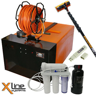 350ltr WFP Window Cleaning System + 500GPD R/O + 25ft Carbon Pole + Brush + Reel