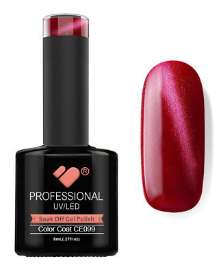 CE099 VB Line Cat Eye Red Metallic - gel nail polish - super mega sale!