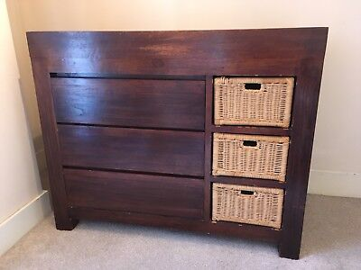 Solid Teak Baby Changing Table