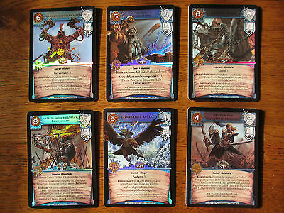 WARCRY - CHAMPIONS of the Grand Alliance - 6 Promo Foil cards War cry UR Cards