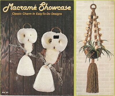 """Vintage 1978 Macrame Pattern Book """"macrame Showcase"""" There Are 12 Projects"""