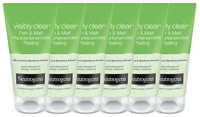 6 x 150ml NEUTROGENA Peeling Visibly Clear Fein&Matt - Lemon & Mandarin Extrakt