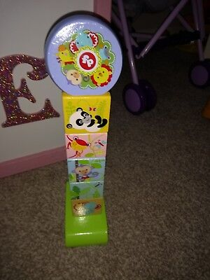 Fisher Price Rainforest Friends Wooden Stacking Puzzle Great Condition