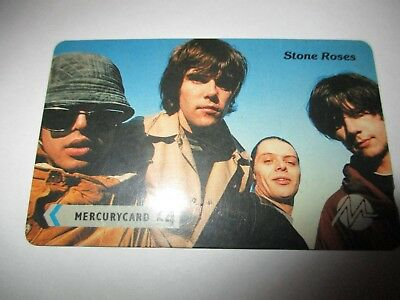 Rare UK The Stone Roses Mercurycard Phonecard Ian Brown