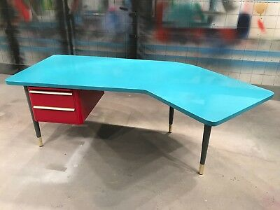 Mid century executive desk. Made by Abbess.