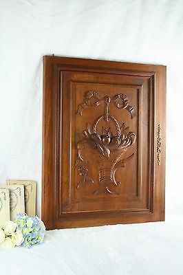 Antique French wood carved door panel cabinet NO1