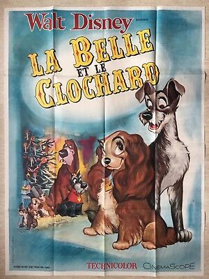 Affiche 120x160 : La Belle et le Clochard (EO 1955) Disney Lady and the Tramp