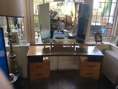 Art Deco Vintage Mid Century Dressing Table Waring and Gillow