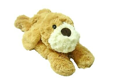 LIMITED EDITION Warmies Cozy Plush Laying Beige Dog Lavender Microwavable Toy
