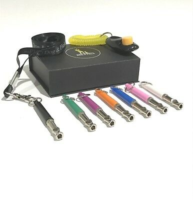 Dog & Field™ Whistle & Clicker Training Gift Set with Lanyard - 7 Colour Options