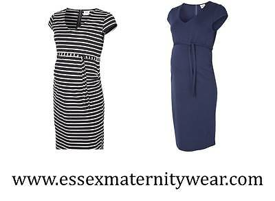 Mamalious BNWT Jersey Dress Blue or Blue & White Size 8 - 16