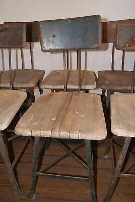 Vintage Industrial  Chair Machinist  Factory Workshop-Set of 8