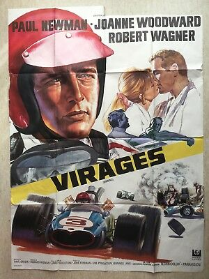 Affiche 120x160 : Virages (EO 1969) Winning - Paul Newman, Woodward, Wagner