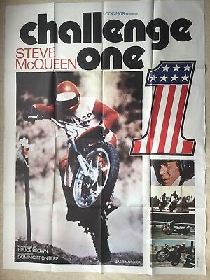 Affiche 120x160 : Challenge One (EO 1972) On Any Sunday Steve McQueen Poster
