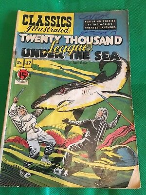 Classics Illustrated #47 Twenty Thousand Leagues Under The Sea (HRN 78) Good
