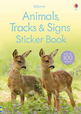 Usborne Kids Animals Tracks & Signs Sticker Education Story Book by Laura Howell