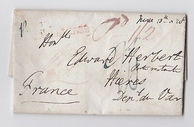 Gb. 1828 Entire To France Re Catholic Emancipation. Duke Of Wellington Mentioned