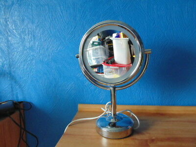 BOOTS No.7 MAINS POWERED ILLUMINATED DOUBLE SIDED MAKE-UP MIRROR.