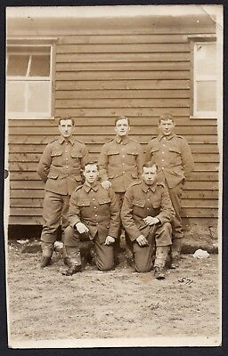 Ww1 Royal Naval Division Group, Named, Details To Reverse, Blandford, Rppc.