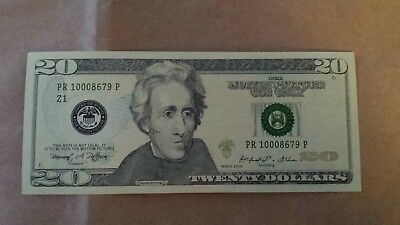 One (1 piece)  Spoof $20 Dollar Bill Funny Prank Joke Play Money NEW & CRISP
