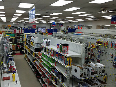 Hardware store inventory and shelving