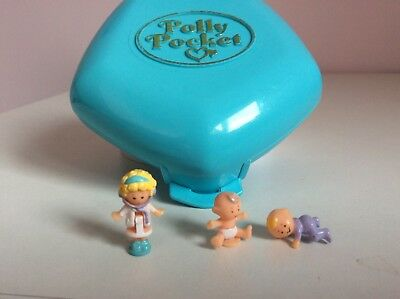 Vintage Polly Pocket 1992 polly in the Nursery blue 100% complete