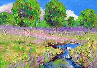 "5x7""original oil painting plein air painting contemporary art By Ken Burnside"