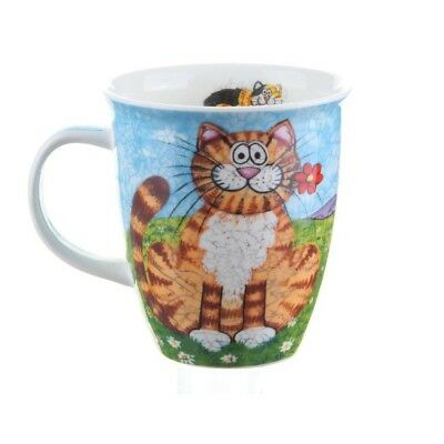 Dunoon Cat Mug NEW Fine Bone China Nevis Happy Cats Tortie & Tabby in Gift Box