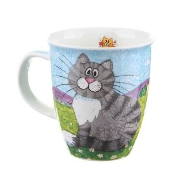 Dunoon Cat Mug NEW Fine Bone China Nevis Happy Cats Ginger & Tabby in Gift Box