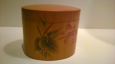 Vintage Oval Asian Small Satinwood Tea HNA  ,wooden box ,