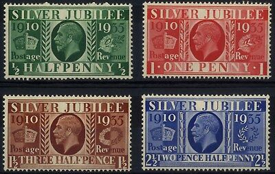 Great Britain - SG 453-456 - 1935 - Silver Jubilee Set of 4 - Unmounted Mint/MNH