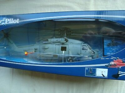 Miniature Helicopter Sikorsky Sh 60 Sea Hawk Navy Usa 1/60 New Ray New