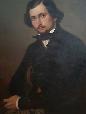 19th Century Nobleman Portrait - Oil on Canvas - Signed