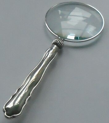 William Hutton & Son HM Silver Handle Magnifying Glass Sheffield 1919