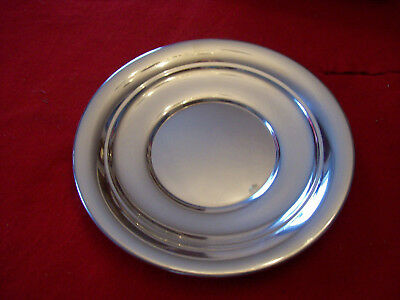 """Set of four Vintage Williamsburg Colonial Pewter Charger Plate 14"""""""