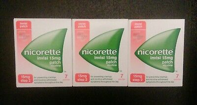 Nicorette 15mg Invisi patches step 2 x 21 patches